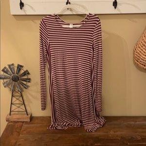 Women's Old Navy Long Sleeve Swing Dress